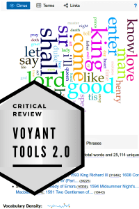 Critical Review - Voyant Tools 2.0